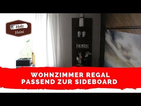 Wohnzimmer Regal passend zur Sideboard einfach selber bauen