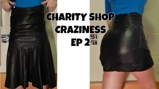 DIY- Leather Mini Skirt