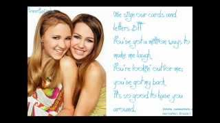 Miley Cyrus - True Friend Lyrics. ♥
