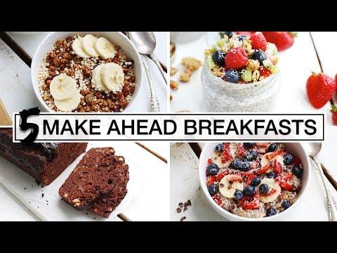 Video 5 Healthy Make-Ahead Breakfasts | EASY + VEGAN