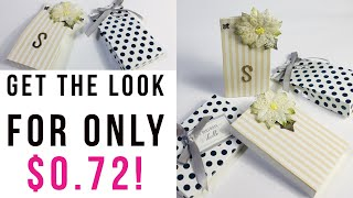 MAKE EASY BAGS AND BOXES. Great Gift Packaging Idea. ⭐️PERFECT WEDDING FAVOR DIY FOR UNDER $1.00⭐️
