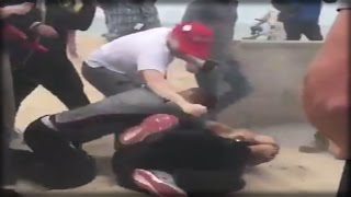 OMG! TRUMP SUPPORTERS GET JUMPED AT A CALIFORNIA RALLY, WHAT HAPPENED NEXT WAS UNBELIEVABLE!