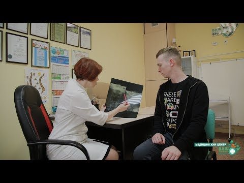 Promotional video for the medical center examination of an adult patient