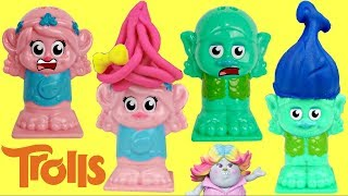 How to Make Play-Doh Dreamworks Trolls Press 'n Style Salon Poppy & Branch