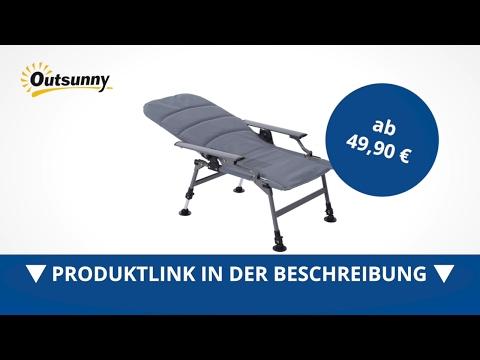 Outsunny Anglerstuhl mit Armlehne Karpfenstuhl - direkt kaufen!