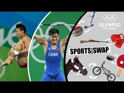 Diving vs. Weighlifting Can Lü Xiaojun & Chen Aisen Switch Sports? | Sports Swap Challenge