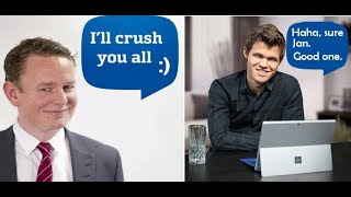 MAGNUS CARLSEN secretly CRUSHES Jan Gustafsson in his live stream