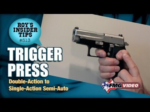 Trigger Press: Double-Action To Single-Action Semi-Auto