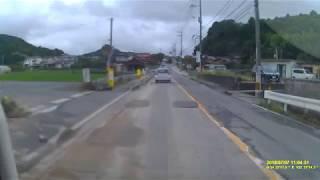 平成30年7月豪雨翌日ドライブレコーダ7月7日県道174号線熊野跡道広島県安芸郡熊野町新宮