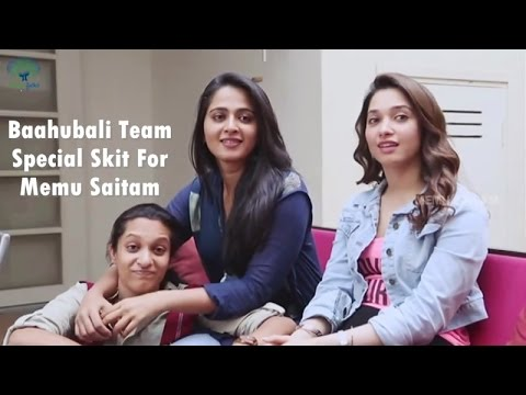Video Baahubali Team Special Skit for Memu Saitam