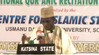 2018 Nigerian Musabaqah: Katsina State 60 Hizb Male Participant. 1st Position