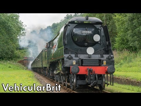 West Country Class 34092 'City of Wells' visits the Bluebell…