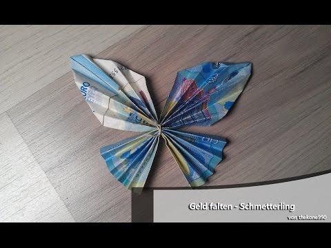 Geld Falten Schmetterling Anleitung Fur Ein Geldgeschenk