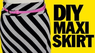 DIY Maxi Skirt, ThreadBanger How-to, Sewing Project