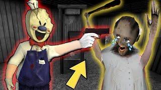 Granny vs Aliashraf funny animation part 71 - 63 : Ice Scream, Mr Meat, Baldi