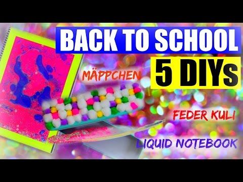 5 KRASSE BACK TO SCHOOL DIY | Liquid Lava Notebook, Feder Kugelschreiber & mehr | SofiaBeautyCafe