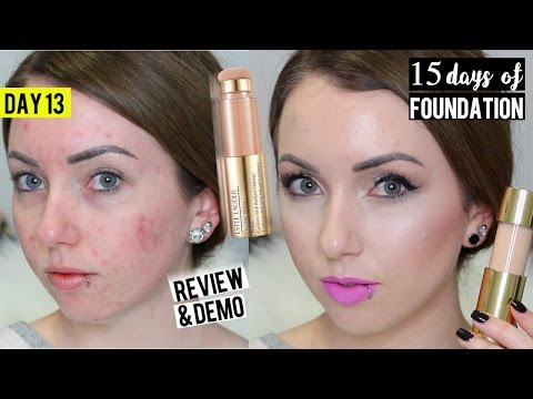 NEW Estee Lauder Double Wear Radiant Cushion Stick FOUNDATION Demo & Review | 15 DAYS OF FOUNDATION