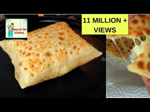 Cheese Paratha Recipe – Cheese Stuffed Paratha – Vegetarian Recipe by (HUMA IN THE KITCHEN)