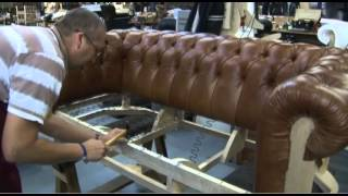 Timeless Chesterfield Sofa Being Made In Our Workshop