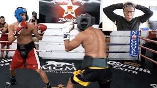 REACTING TO FOUSEY VS ALEX WASSABI BOXING FIGHT