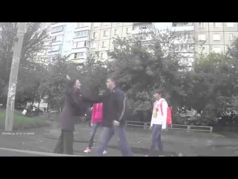 KO-Seen this vid before except more into it- the girl who kicked the guy is Russian
