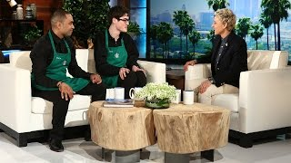 Ellen Meets the Dancing Starbucks Barista