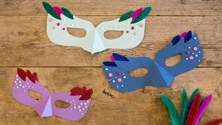 DIY : Make Festive Masquerade Masks By Søstrene Grene