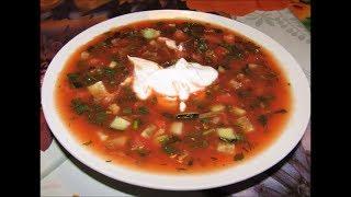 """Холодный суп """"Здоровье"""" с томатным соком"""