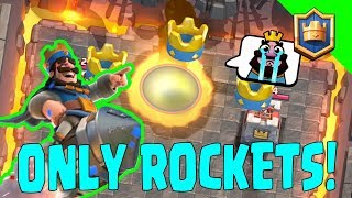 3 CROWNING WITH ONLY ROCKETS! Is 432 Enough? - Clash Royale