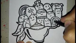 Gambar Doodle Art Diwaktu Yang Membosankan ! (Doodling At Boring Time)