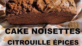 Cake sucré noisettes potiron