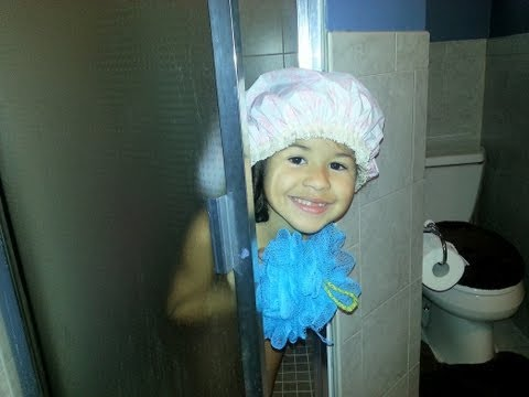 Caught my daughter(娘) singing in the shower (funny what she said in the end)