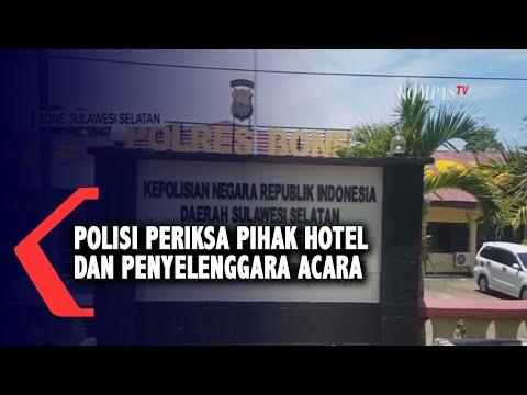 polisi periksa pihak hotel dan penyelenggara acara