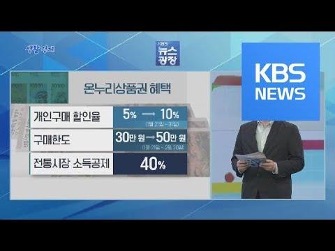 [생활경제] '온누리상품권' 활용법 / KBS뉴스(News)