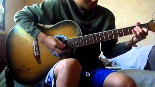 Guitar Intro of One Last Song(A1) by JhayVeeM