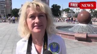 Флаг Украины из велосипедистов