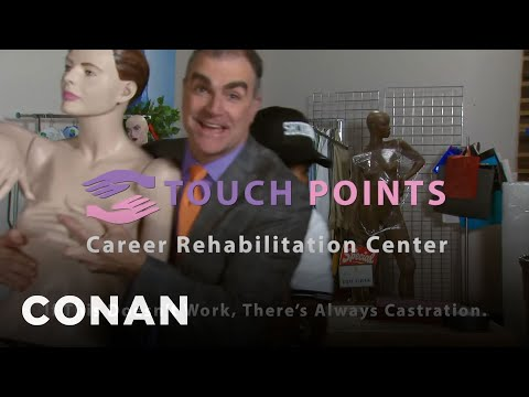 Touch Points: A Career Rehabilitation Service For Creeps - CONAN on TBS (видео)