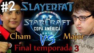 starcraft 2 HOTS en español TvZ Copa america - Major vs Cham - parte 2