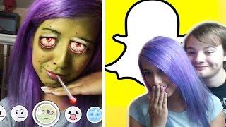 NEW Snapchat Lenses (iPad Footage)