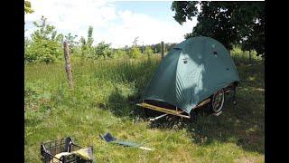 My maxi Bike tent-camper. Mein grosser Fahrrad Zeltwagen. (Ich habe noch mini Variante)