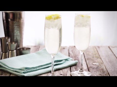 Video Cocktail Recipes - How to Make a French 75