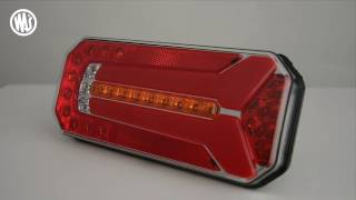 w150 and W150DD multifunctional rear lamp with dynamic indicator