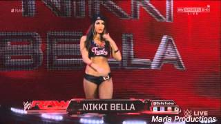 Nikki Bella enters the arena with Brock Lesnar's theme song (Requested)