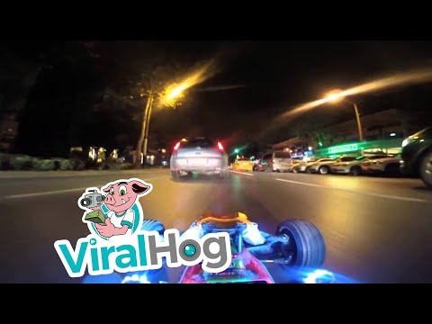 Driving A RC Car At Night In Real Car Traffic || ViralHog