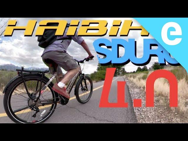 Видео Электровелосипед Haibike SDURO Trekking 4.0 i500Wh sand/black/red