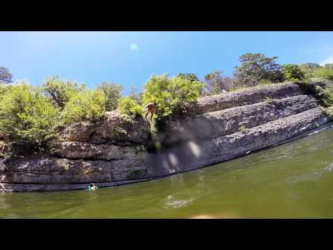 Cliff Diving And Flips At Grand Lake In Oklahoma! Short GoPro 3 Video.