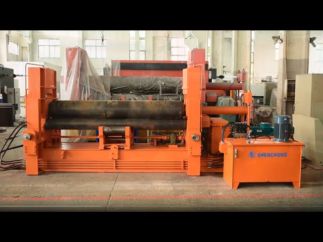 3 roll plate bending roll machine for sale, sheet metal