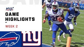 Bills vs. Giants Week 2 Highlights | NFL 2019