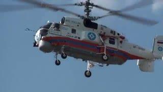 ВЕРТОЛЕТ МЧС РОССИИ  КА-32A11BC  (ПОСАДКА-ЗАПУСК-ВЗЛЕТ)