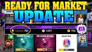 750+ TOKENS READY FOR TOKEN MARKET UPDATE AND A NEW GALAXY OPAL! NBA 2K20 MYTEAM GRIND